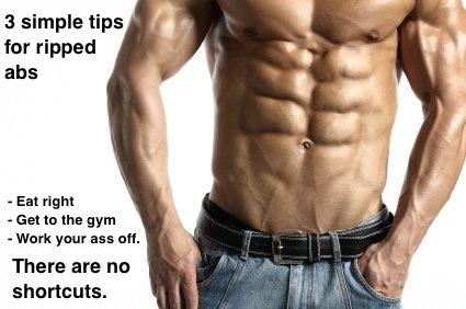 Three Tips for Ripped Abs